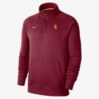 Nike College (USC) Men's 1/4-Zip Fleece Top