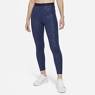 Nike Pro Dri-FIT Leggings estampados de cintura alta de 7/8 para mujer