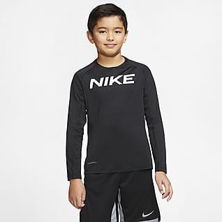 Nike Pro Langærmet træningsoverdel til store børn (drenge)