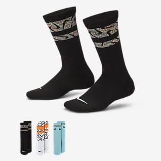 Nike Everyday Calcetas con amortiguación para niños (3 pares)