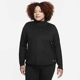 Nike Therma-FIT One Camiseta de medio cierre con manga larga para mujer (talla grande)