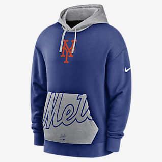 Nike Crop Pocket Heritage (MLB New York Mets) Men's Pullover Hoodie