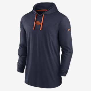 Nike Dri-FIT Sideline (NFL Denver Broncos) Men's Long-Sleeve Hooded T-Shirt