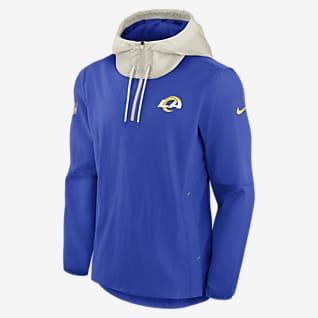 Nike Sideline Player (NFL Los Angeles Rams) Chamarra con cierre de 1/4 para hombre