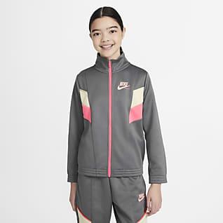 Nike Sportswear Heritage Chamarra de cierre completo para niña talla grande