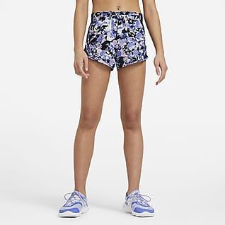 Nike Dri-FIT Tempo Běžecké kraťasy s potiskem pro větší děti (dívky)