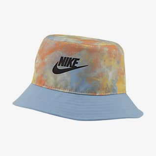 Nike หมวกปีกรอบเด็กโตมัดย้อม