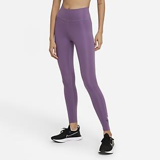 Nike Dri-FIT Swoosh Run Γυναικείο κολάν μεσαίου ύψους 7/8 για τρέξιμο