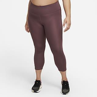 Nike Fast Korta löparleggings med medelhög midja för kvinnor (Plus Size)