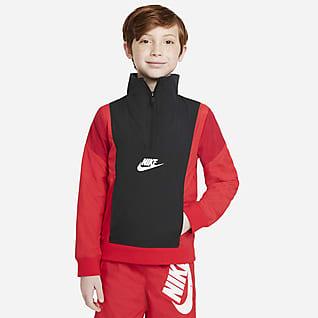 Nike Sportswear Amplify Prenda para la parte superior de tejido Woven de medio cierre para niño talla grande