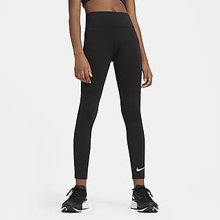 Nike One Træningsleggings med høj talje til større børn (piger)