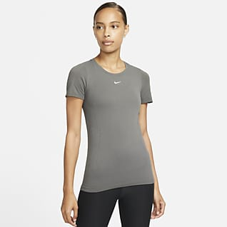 Nike Dri-FIT ADV Dámský bezešvý tréninkový top skrátkým rukávem