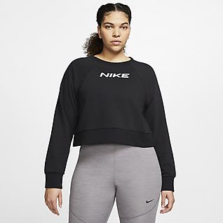 Nike Γυναικεία μπλούζα προπόνησης (μεγάλα μεγέθη)