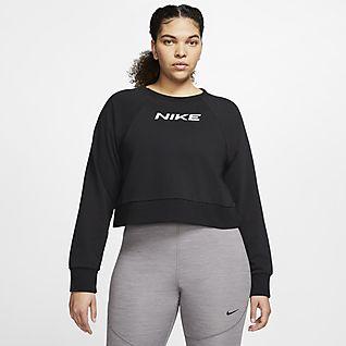Nike Női kerek nyakkivágású edzőpulóver (plus size méret)