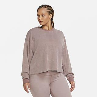 Nike Yoga Kerek nyakkivágású női pulóver (plus size méret)
