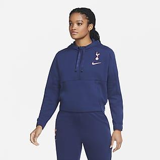 Tottenham Hotspur Rövid cipzáras, rövidített szabású női kapucnis pulóver futballhoz
