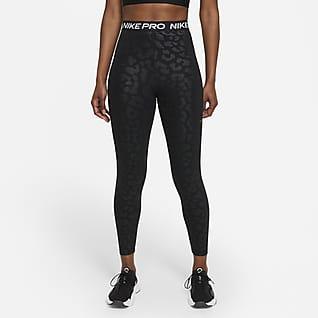 Nike Pro Dri-FIT Mönstrade leggings i 7/8-längd med hög midja för kvinnor
