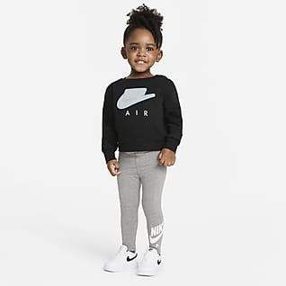 Nike Air Babysæt med crewtrøje og leggings (12-24 mdr.)