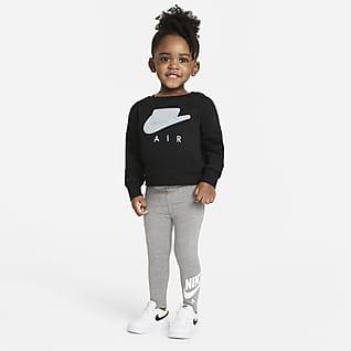 Nike Air Set med tröja med rund hals och leggings för baby (12-24 mån)