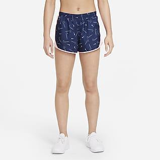 Nike Dri-FIT Tempo กางเกงวิ่งขาสั้นเด็กโตพิมพ์ลาย (หญิง)