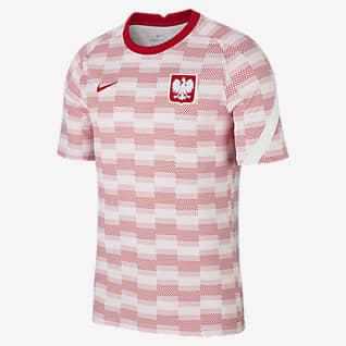 Pologne Haut de football à manches courtes pour Homme