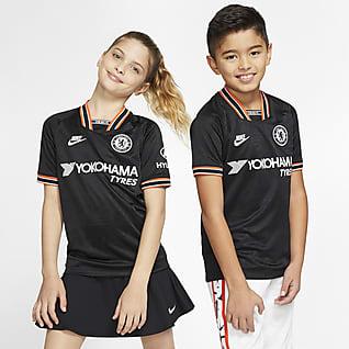 Camiseta alternativa Stadium del Chelsea FC 2019/20 Camiseta de fútbol para niños talla grande