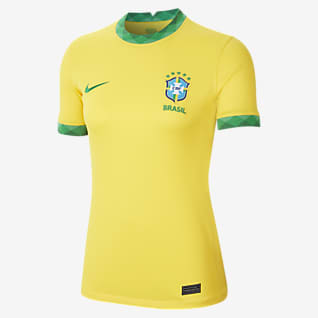 Brasil 2020 Stadium de local Camiseta de fútbol para mujer