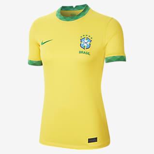 Brésil 2020 Stadium Domicile Maillot de football pour Femme