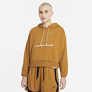 Nike Dri-FIT Swoosh Fly Standard Issue Felpa pullover da basket con cappuccio - Donna