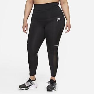 Nike Air Dri-FIT 7/8-hardlooplegging met omvouwbare taille voor dames (Plus Size)