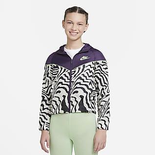 Nike Sportswear Windrunner Куртка с принтом для девочек школьного возраста