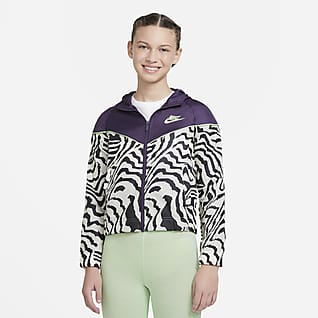 Nike Sportswear Windrunner Jakke med trykk til store barn (jente)
