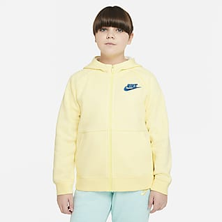 Nike Sportswear Sudadera con capucha de cierre completo para niña talla grande (talla extendida)