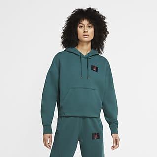 Jordan Flight Sudadera con capucha sin cierre de tejido Fleece para mujer