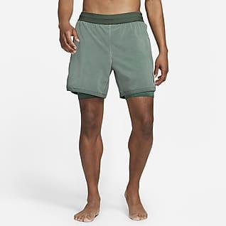 Nike Yoga Dri-FIT Calções 2 em 1 para homem