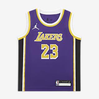 洛杉矶湖人队 (LeBron James) Statement Edition Jordan NBA Replica Jersey 幼童球衣