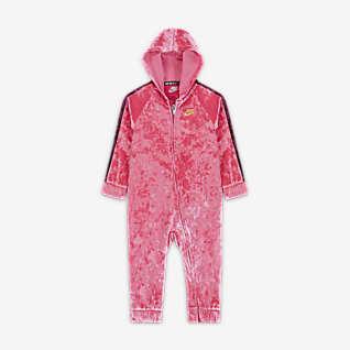 Nike Baby (12-24M) Crushed Velour Full-Zip Coverall