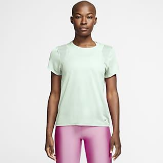 Nike Run Camiseta de running de manga corta para mujer