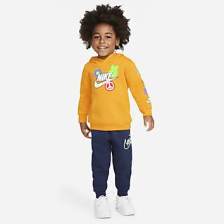 Nike Conjunto de sudadera con gorro y pantalones para bebé