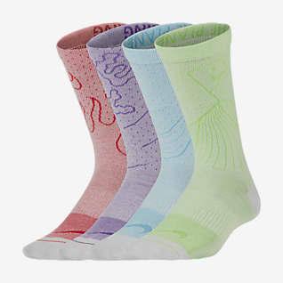 Nike Swoosh Lightweight ถุงเท้าข้อยาวเด็กโต (2 คู่)