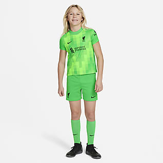 Liverpool FC 2021/22 de arquero Kit de fútbol para niños talla pequeña