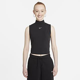 Nike Sportswear Collection Essentials Mouwloze damestop met opstaande kraag