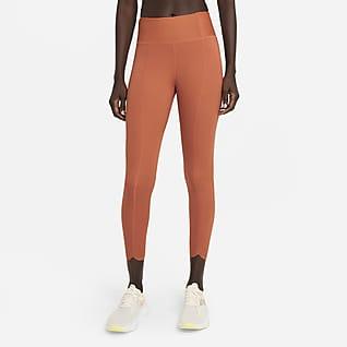 Nike One Luxe Icon Clash Leggings cropped de tiro medio para mujer
