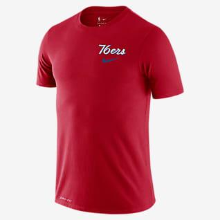 76ers Wavy Wordmark Men's Nike Dri-FIT NBA T-Shirt