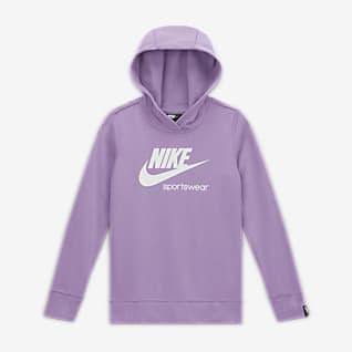 Nike Sportswear Heritage Big Kids' (Girls') Pullover Hoodie