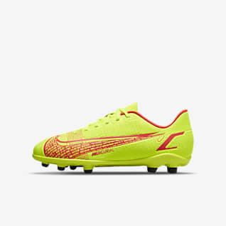 Nike Jr. Mercurial Vapor 14 Club FG/MG Chuteiras de futebol multiterreno para criança/Júnior