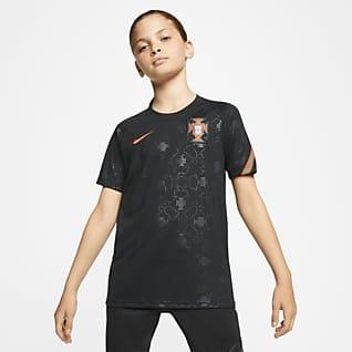 Portugal Kortærmet fodboldtrøje til store børn
