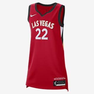 A'ja Wilson Aces Explorer Edition Nike Dri-FIT WNBA Victory Jersey