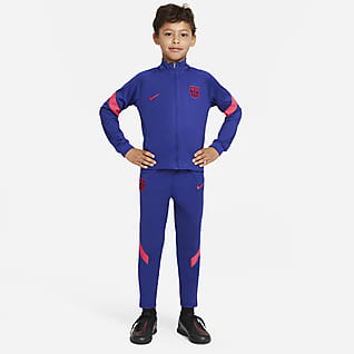 F.C. Barcelona Strike Younger Kids' Football Tracksuit