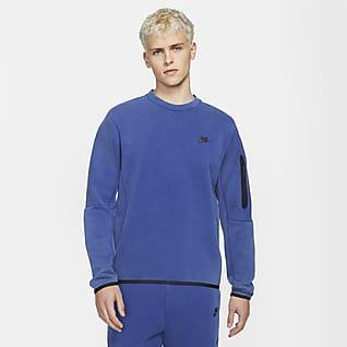 Nike Sportswear Tech Fleece Ανδρικό crew με ξεθωριασμένη όψη